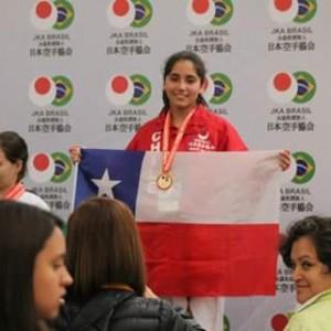 Alumna del Liceo Campeona Sudamericana de Karate