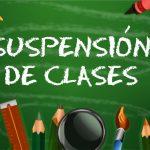 Circular sobre suspensión de clases viernes 25 de mayo