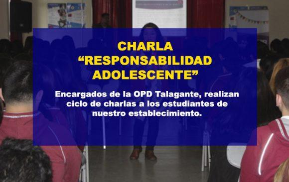 """Charla """"Responsabilidad Penal Adolescente"""""""